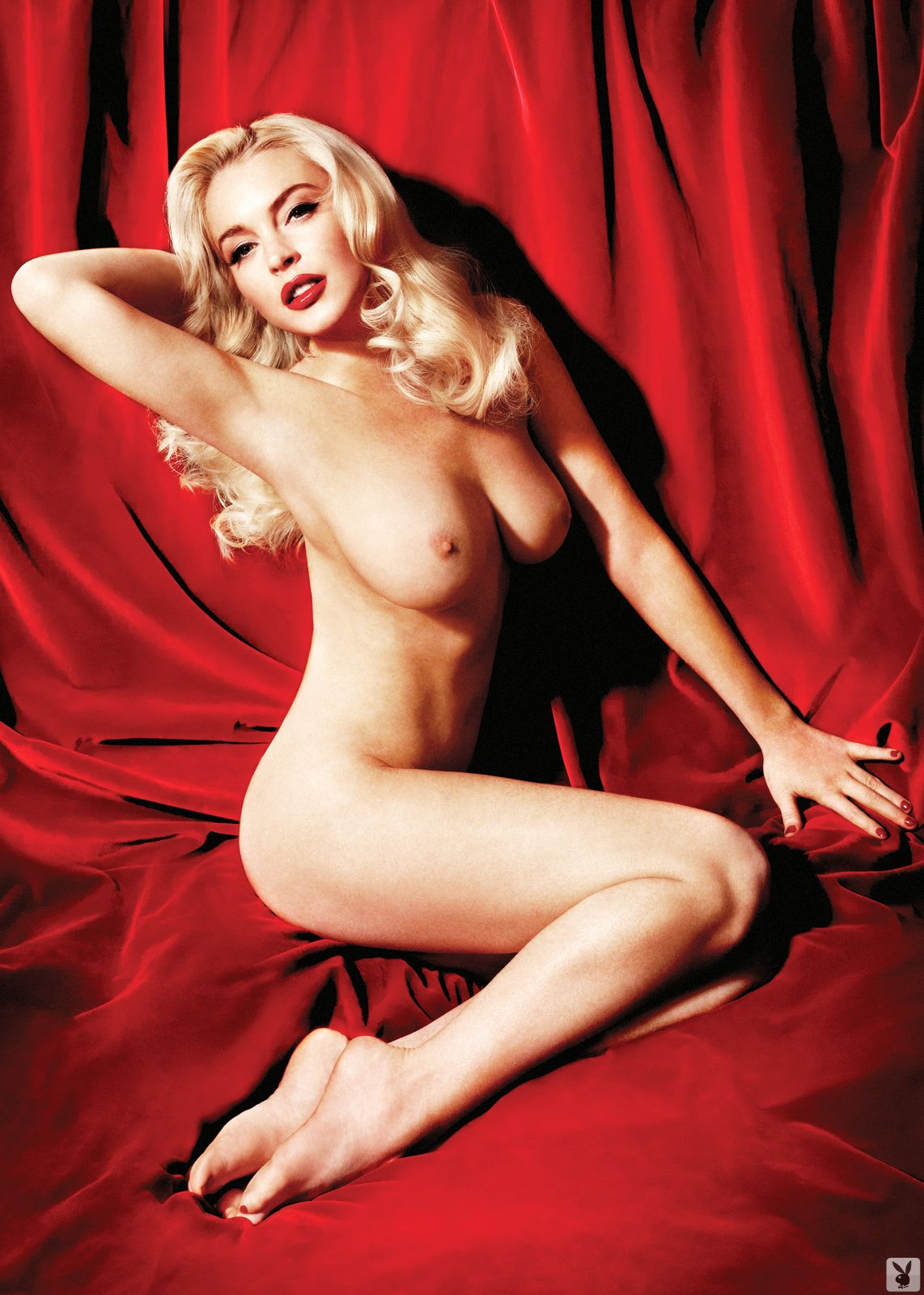 Lindsay lohan in nude marilyn monroe photo shoot
